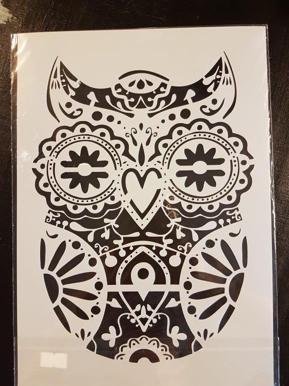 Owl Uil Sjabloon  A4