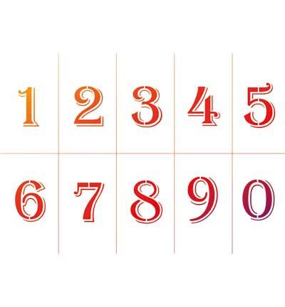 Getallen Nummers Sjabloon A4