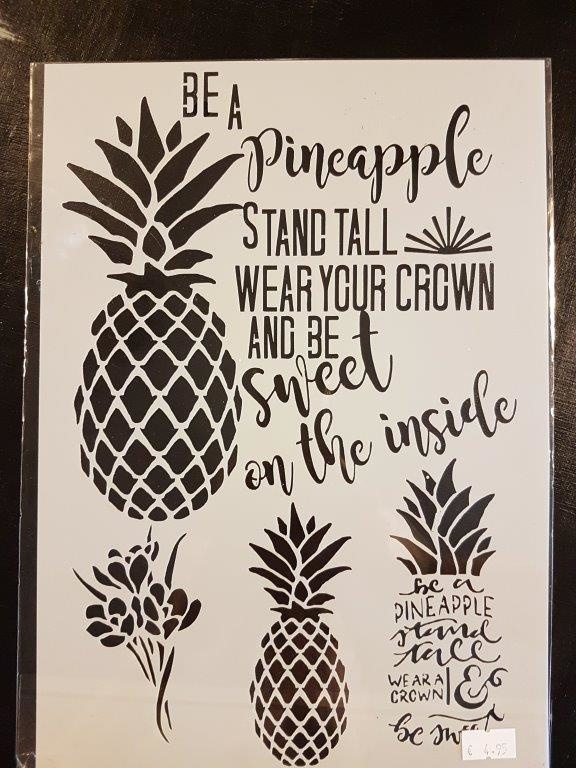 Be a Pineapple Ananas Sjabloon  A4