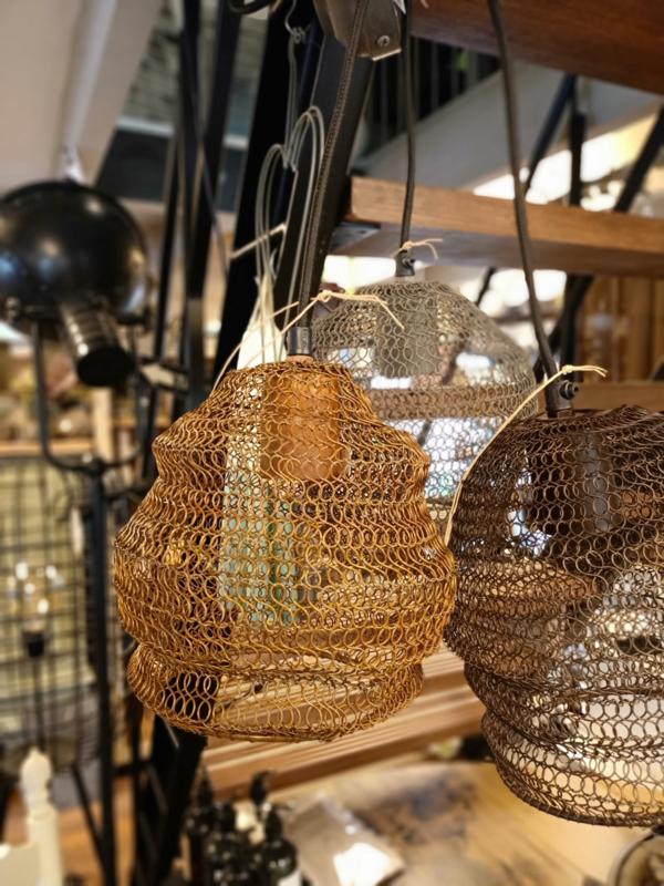 Draadlamp koper/roest