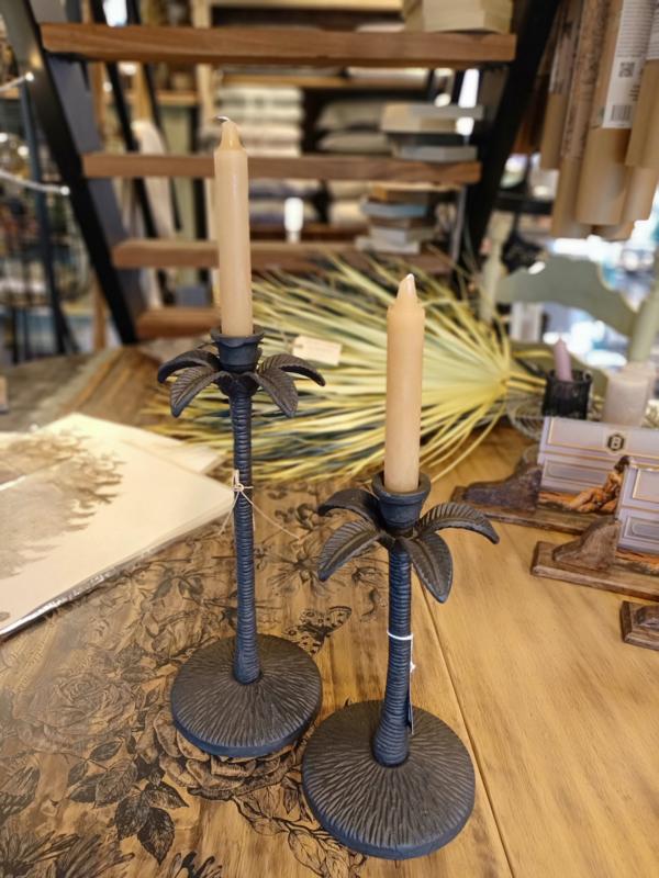 Metalen palmboom kandelaar L