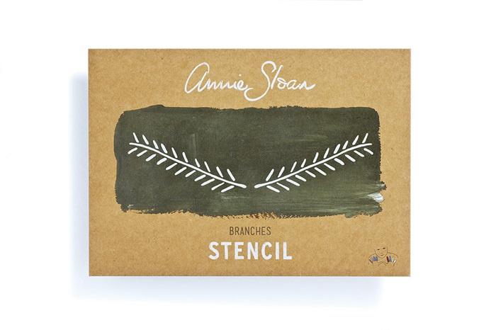 Stencil Branches Sloan Sjabloon A4