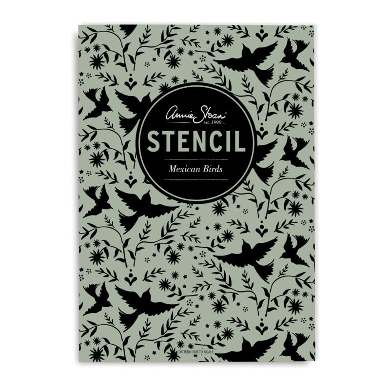 Annie Sloan stencil Mexican Birds  A4