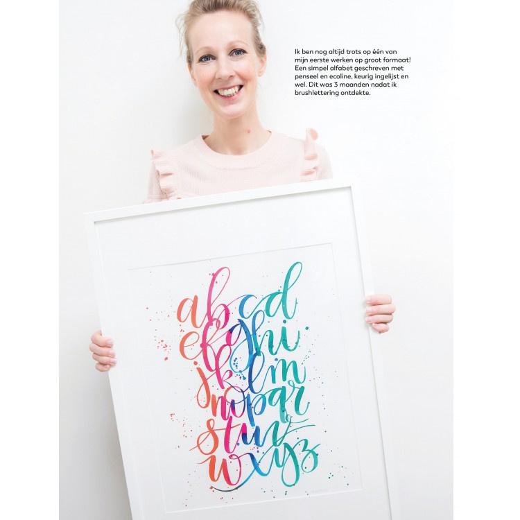Oefenschrift Brushlettering voor iedereen van Carla Kamphuis