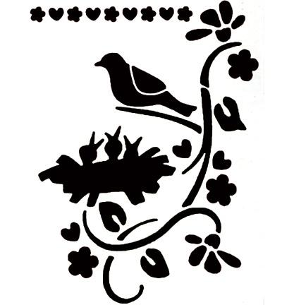 Vogel met nest