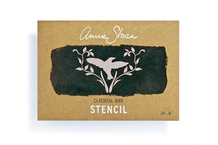 Stencil Classical Bird Annie Sloan Sjabloon A4