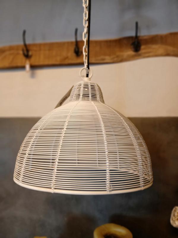 Hanglamp wit metaaldraad