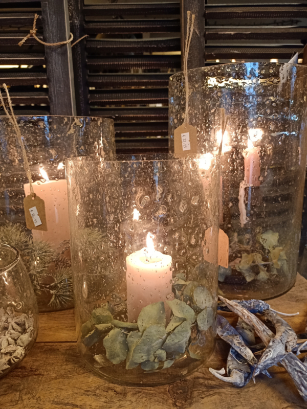 Bubbleglas windlicht / vaas M