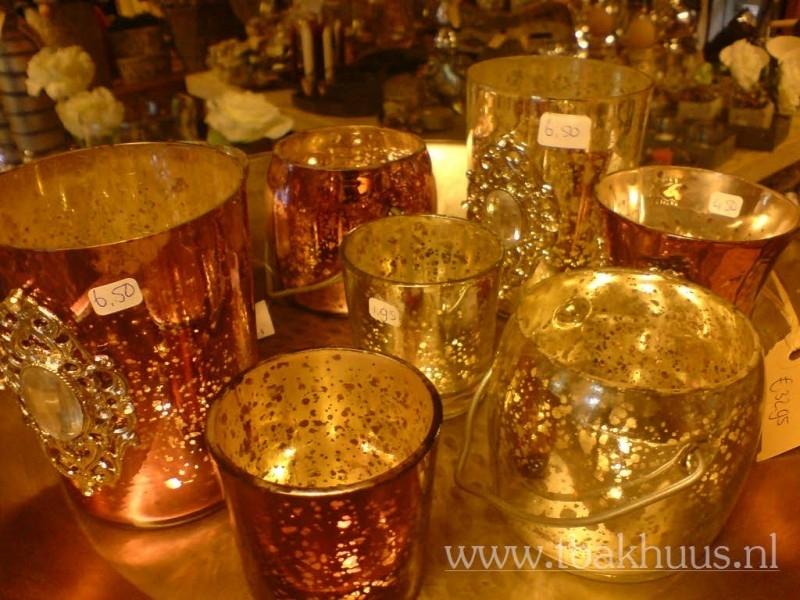 PTMD antique silver windlicht met ornamentje