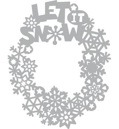 Let it Snow Mask stencil