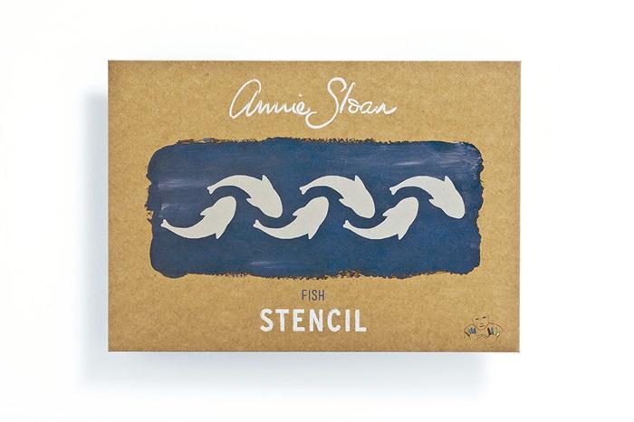 Stencil Fish Annie Sloan Sjabloon A4