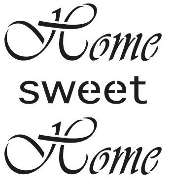 Universal Stencil Home Sweet Home.