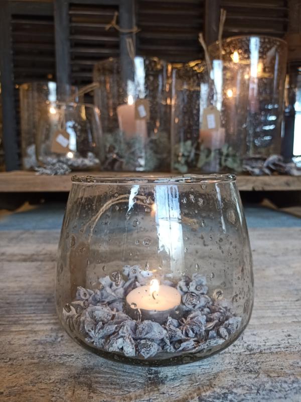 Bubbleglas windlichtje kommetje S