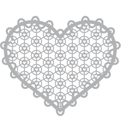 Lace heart Mask stencil 30 x 30 cm
