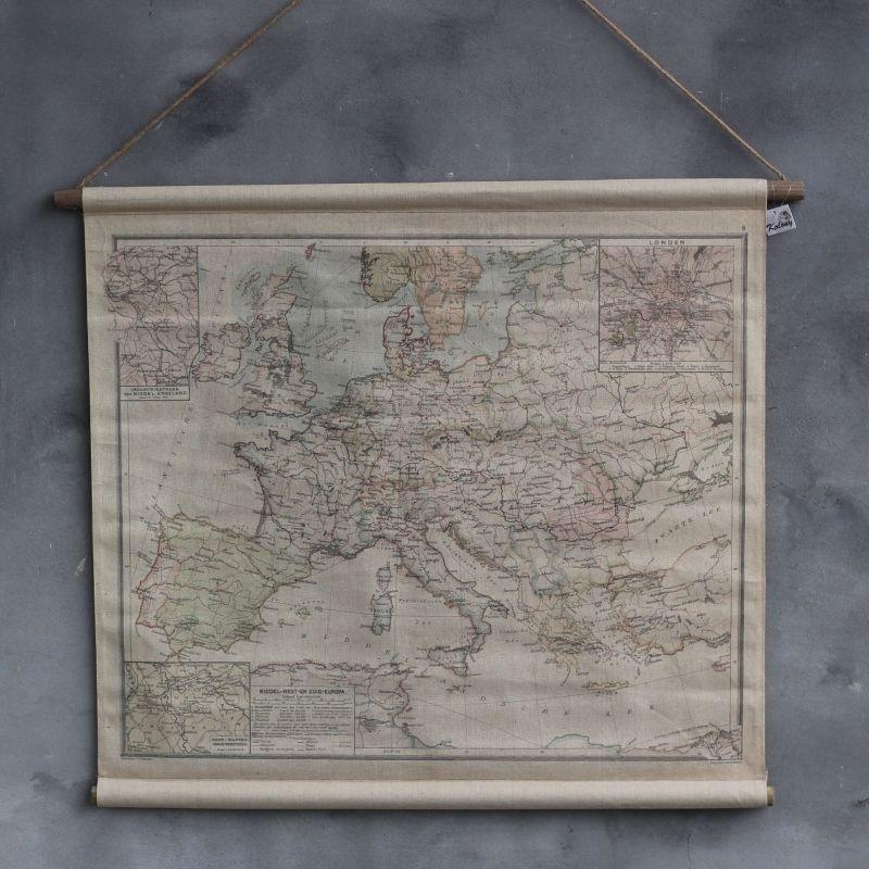 Landkaart Europa 90 x 73 cm