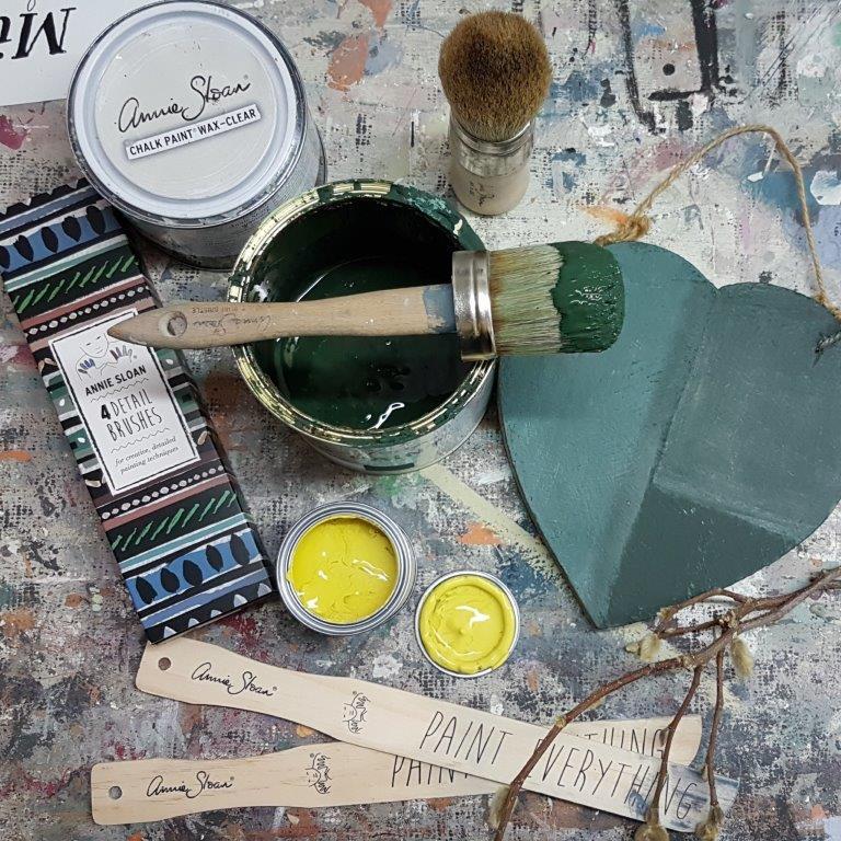 Donderdag 5 september  Workshop Verftechnieken I met Annie Sloan Paint