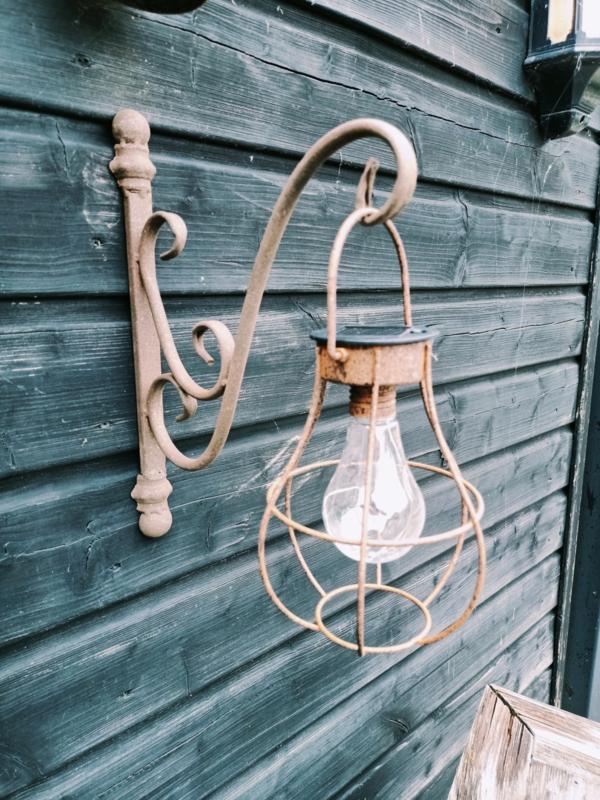 Rusty Solar hanglampje roest met wandhaak