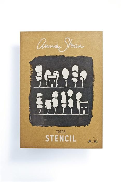 Stencil Trees Sloan Sjabloon A4