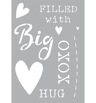 Big hug sjabloon A5 formaat