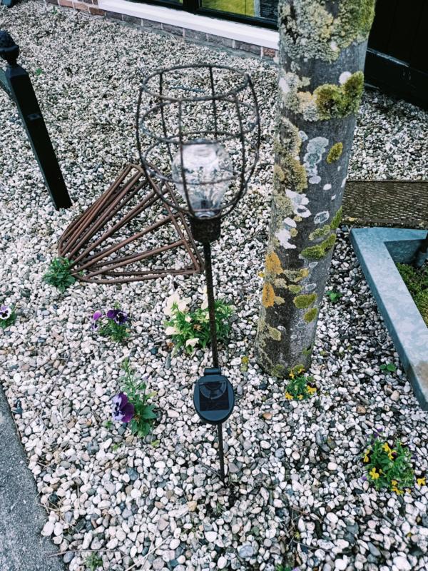 Rusty Solar tuinprikker 90 cm