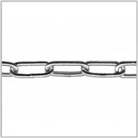 Voetketting / langschalmige ketting elektrolytisch verzinkt 2 mm / 30 m