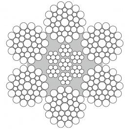 Staalkabel verzinkt 6x36