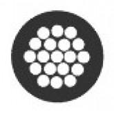 Zwart omspoten staalkabel 1.2mm/2.5mm