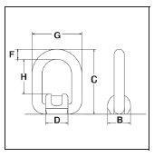 Aanlas hijsoog /  3,15 ton /  Grade 80