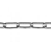 Voetketting / langschalmige ketting elektrolytisch verzinkt 3mm / 30 m