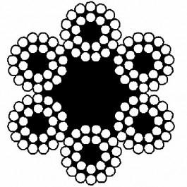 Staalkabel verzinkt 6x24