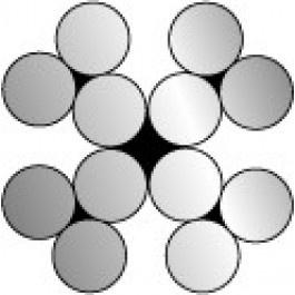 Staalkabel verzinkt 4x3