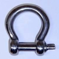 Harpsluiting gesmeed (niet om te hijsen) RVS 4mm / 10 stuks