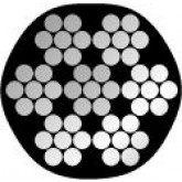 PVC omspoten RVS staalkabel 4mm/6mm