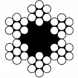 Staalkabel verzinkt 6 x 7, 2mm(100mtr)