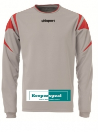 Uhlsport leo keepershirt grijs/rood
