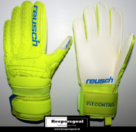 Reusch Fit Control SG Finger Support Lime Safety Yellow