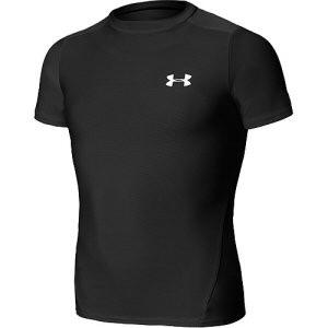 Under Armour Heatgear shortsleeve shirt Junior zwart
