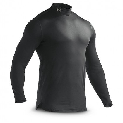 Under Armour EVO coldgear fitted mock junior zwart