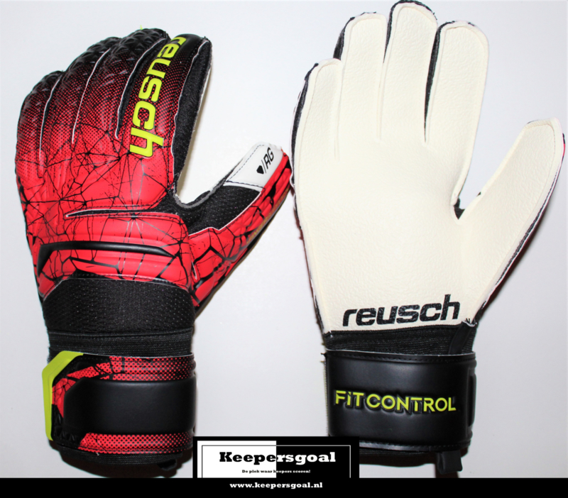 Reusch Fit Control RG Finger Support Junior Black Fire Red