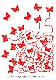 Muursticker Vlinder Doolhof