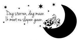 Muursticker Dag Sterren, Dag maan...