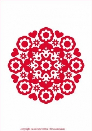 Muursticker Ornament 2   in diverse kleuren