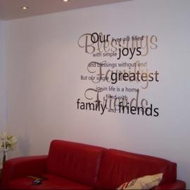 Family & Friends Muursticker