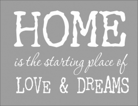 Muursticker Home, Love, Dreams