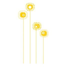 Muursticker Fantasie Bloemen