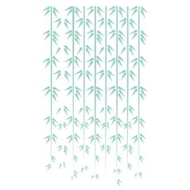Muursticker Bamboe regen
