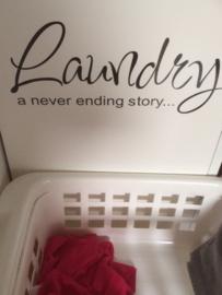 Muursticker Laundry...