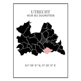 Muursticker Provincie Utrecht / gemeentes