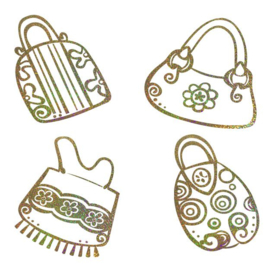 MUURSTICKER Girly Bags