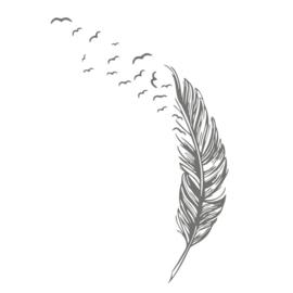 Muursticker Vogelveer